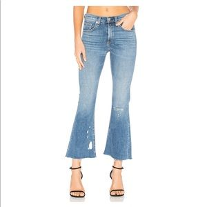Rag & Bone High Waist Crop Flare Jeans 27